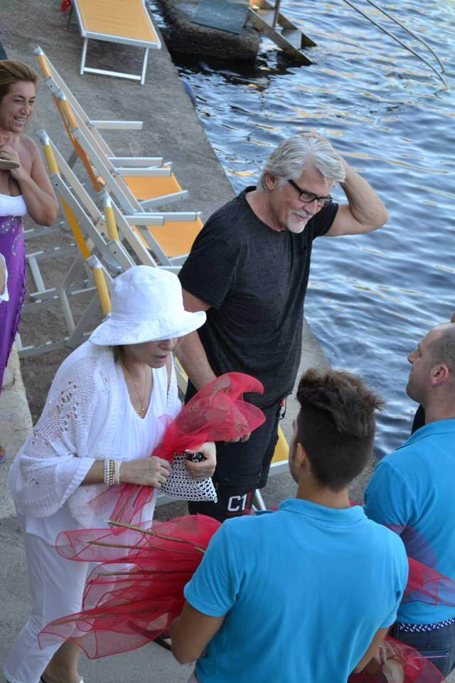 Image result for Barbra Streisand and James at italy
